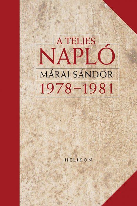 Könyv borító - A teljes napló 1978-1981